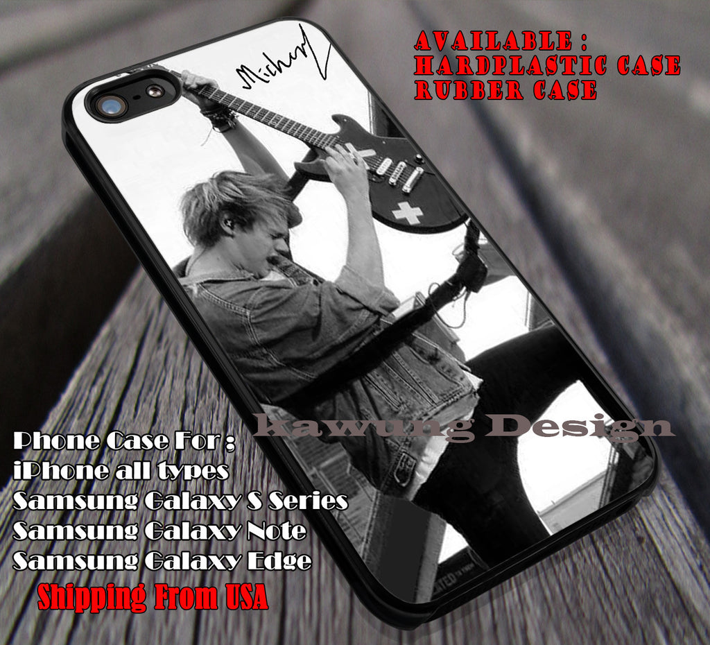 On stage action, michael clifford, signature, 5sos, 5 Second of Summer, case/cover for iPhone 4/4s/5/5c/6/6+/6s/6s+ Samsung Galaxy S4/S5/S6/Edge/Edge+ NOTE 3/4/5 #music #5sos ii - Kawung Design  - 1