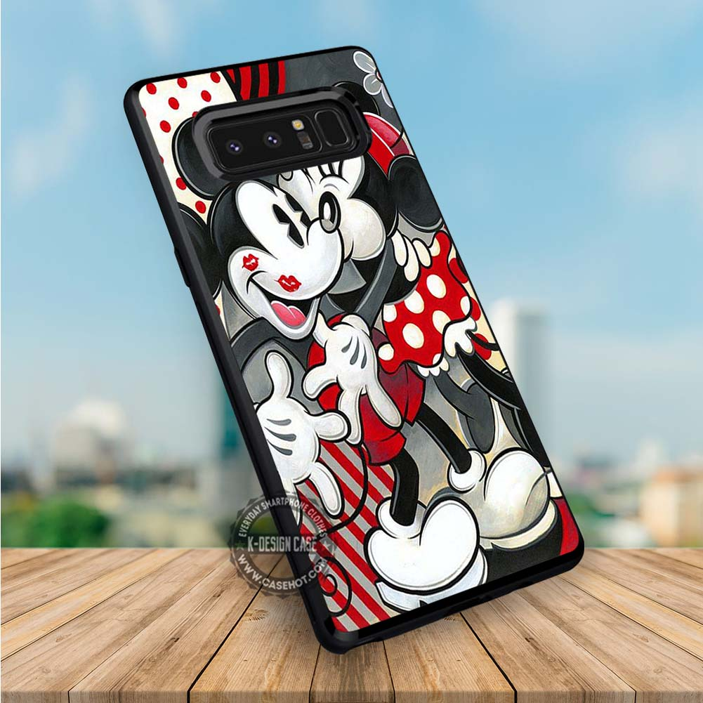 Romantic Couple Kissing Mickey Mouse Samsung Galaxy NOTE 8 Case
