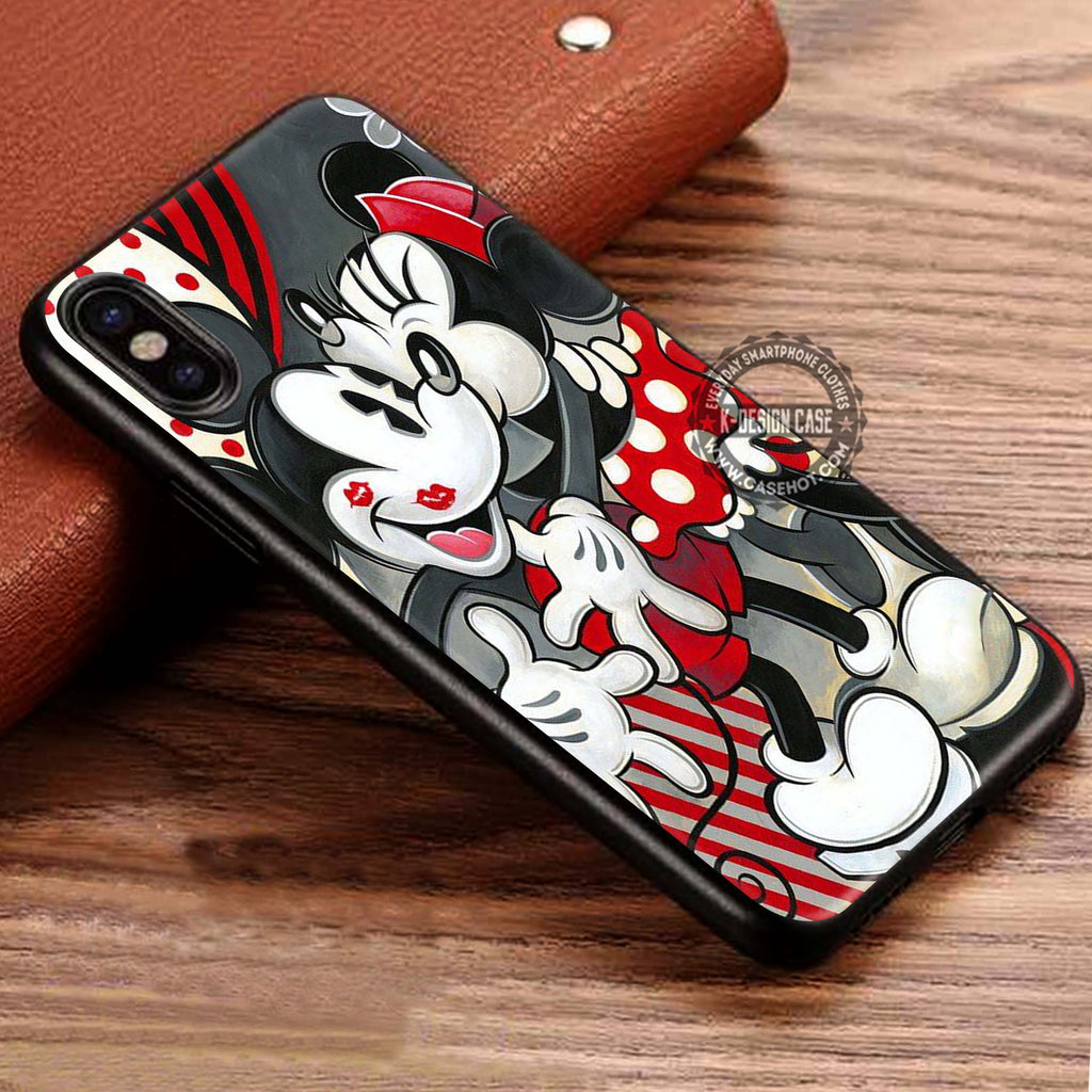 Romantic Couple Kissing Mickey Mouse iPhone X Case
