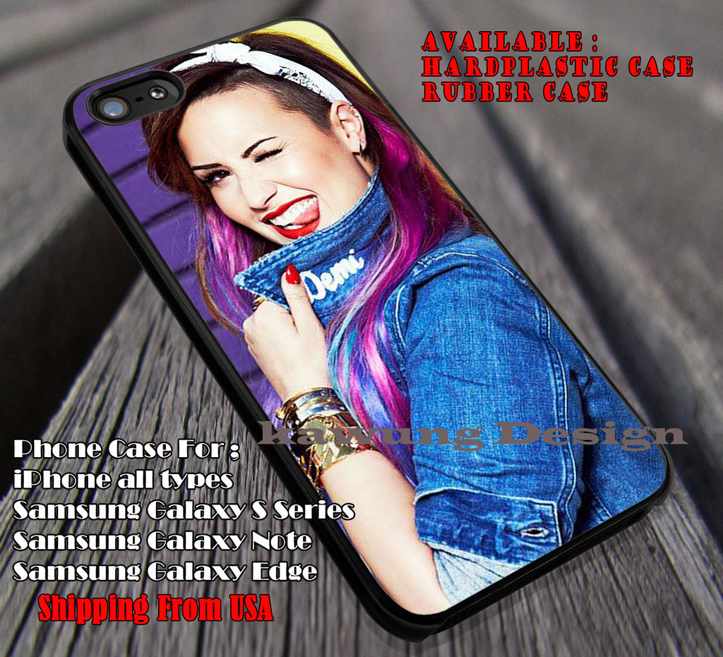 She so Cute Demi Lovato case/cover for iPhone 4/4s/5/5c/6/6+/6s/6s+ Samsung Galaxy S4/S5/S6/Edge/Edge+ NOTE 3/4/5 #music #dml ii