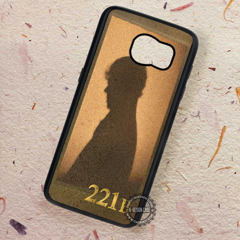 221b Silhouette Sherlock Holmes - Samsung Galaxy S7 S6 S5 Note 7 Cases & Covers - Kawung Design  - 1