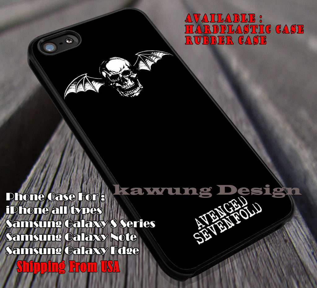 skull head wings, Avenged Seven Fold, punks, case/cover for iPhone 4/4s/5/5c/6/6+/6s/6s+ Samsung Galaxy S4/S5/S6/Edge/Edge+ NOTE 3/4/5 #music #a7x ii - Kawung Design  - 1