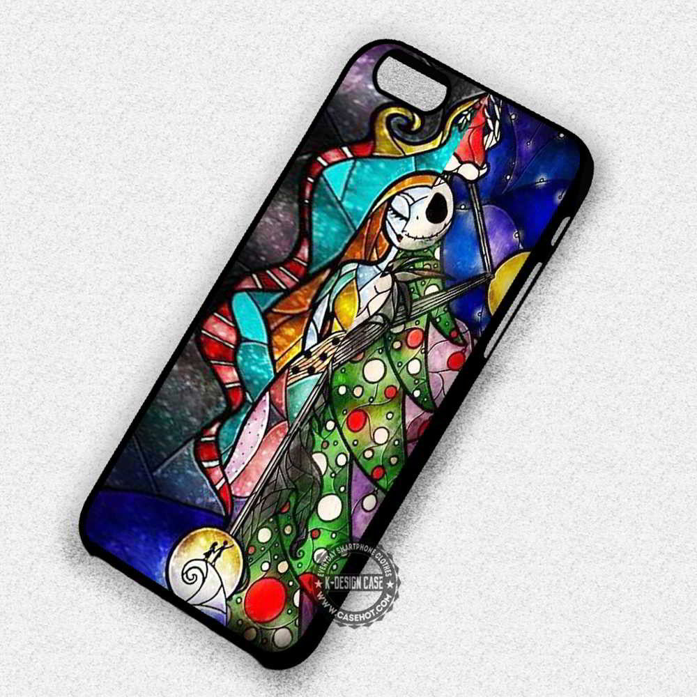 Stained Glass Couple Jack Sally Nightmare Before Christmas - iPhone ...