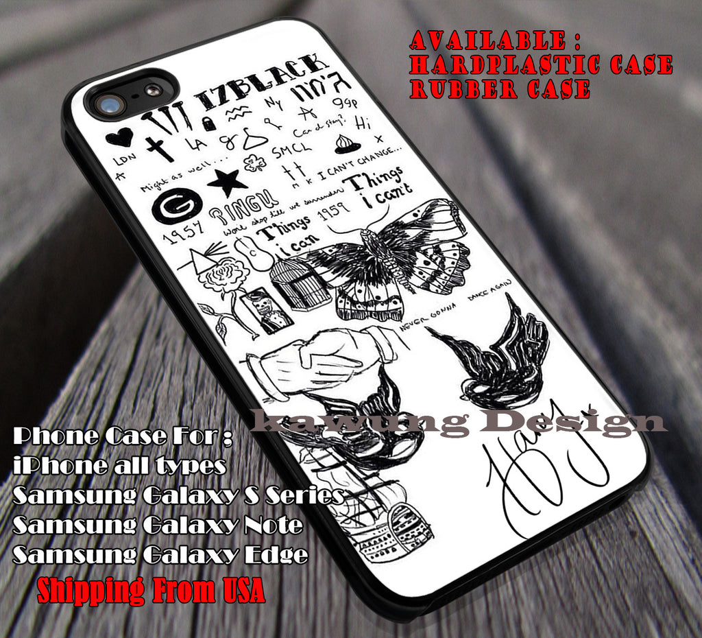 Tattoo and Signature of Harry styles iPhone 7 7+ 6s 6 Cases Samsung Galaxy S8 S7 edge S6 S5 NOTE 5 4