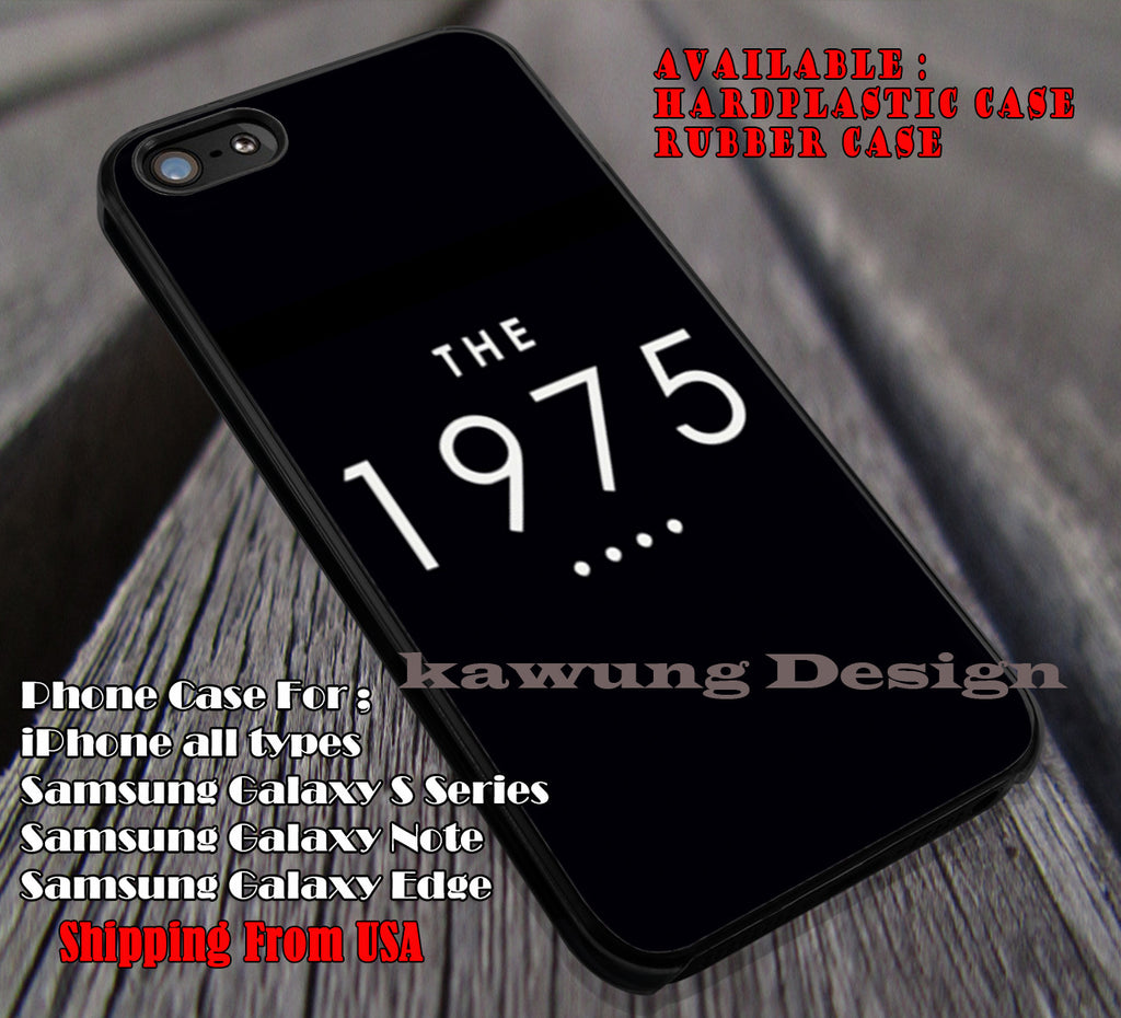 The 1975 logo, on black, music, band, case/cover for iPhone 4/4s/5/5c/6/6+/6s/6s+ Samsung Galaxy S4/S5/S6/Edge/Edge+ NOTE 3/4/5 #music #1975 ii - Kawung Design  - 1
