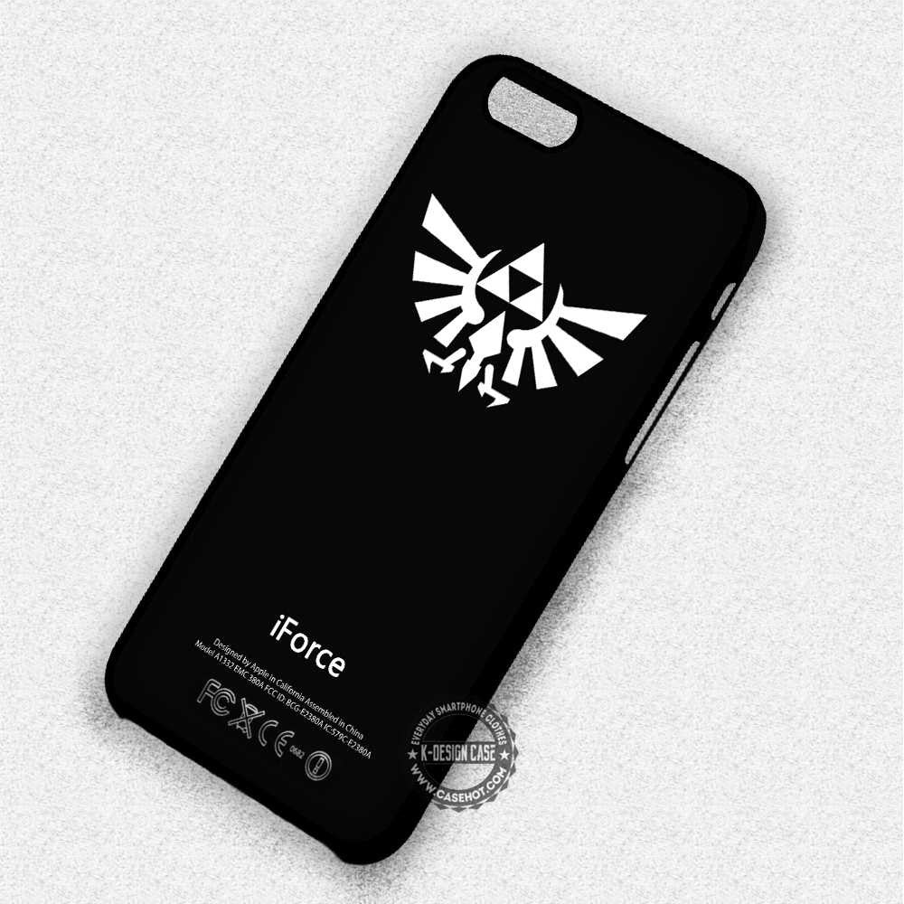 White Symbol With Text The Legend Of Zelda Triforce Iphone 7 6 5