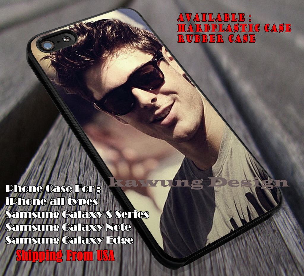 Zac Efron cute in sunglasses, Zac Efron, case/cover for iPhone 4/4s/5/5c/6/6+/6s/6s+ Samsung Galaxy S4/S5/S6/Edge/Edge+ NOTE 3/4/5 #music #zac ii - Kawung Design  - 1