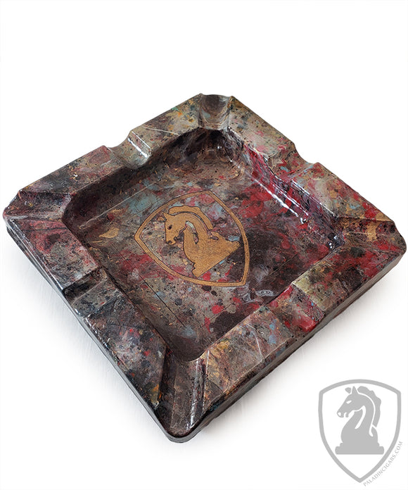 Paladin Logo Table Ashtray - Hand Painted - 8in x 8in