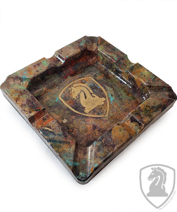 Paladin Logo Table Ashtray - Hand Painted - 8in x 8in #2113