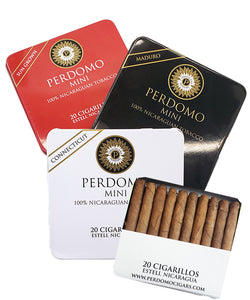 Perdomo Cigarillo 20-Count Tin Connecticut, Maduro, and Sun Grown
