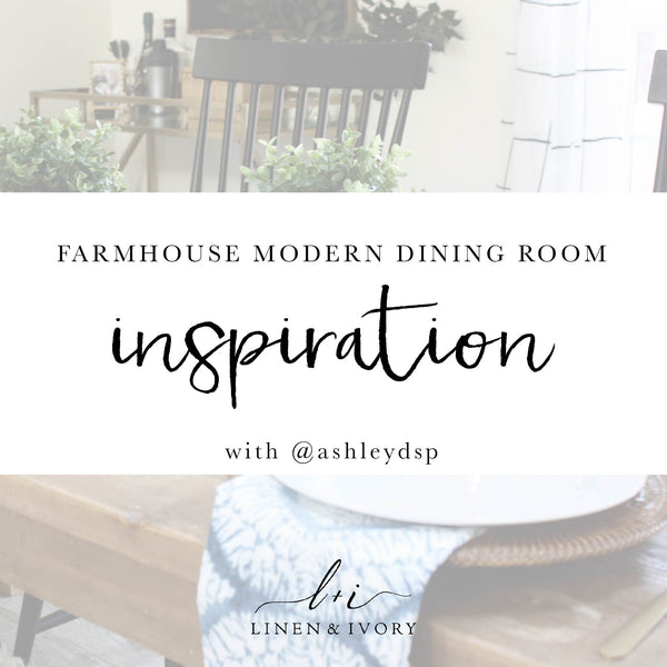 Modern Farmhouse Dining Room Inspiration with @AshleyDSP