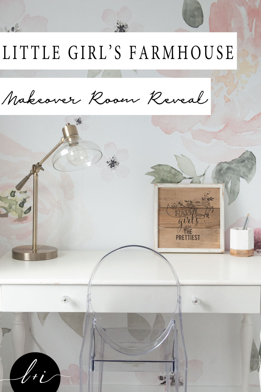 Little Girl's Farmhouse Bedroom Reveal