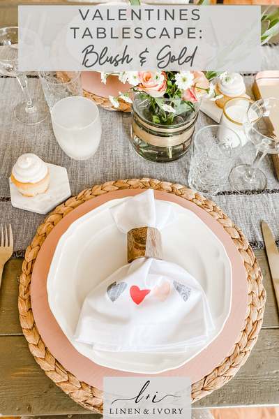 Valentines Day Tablescape: Simple & Elegant