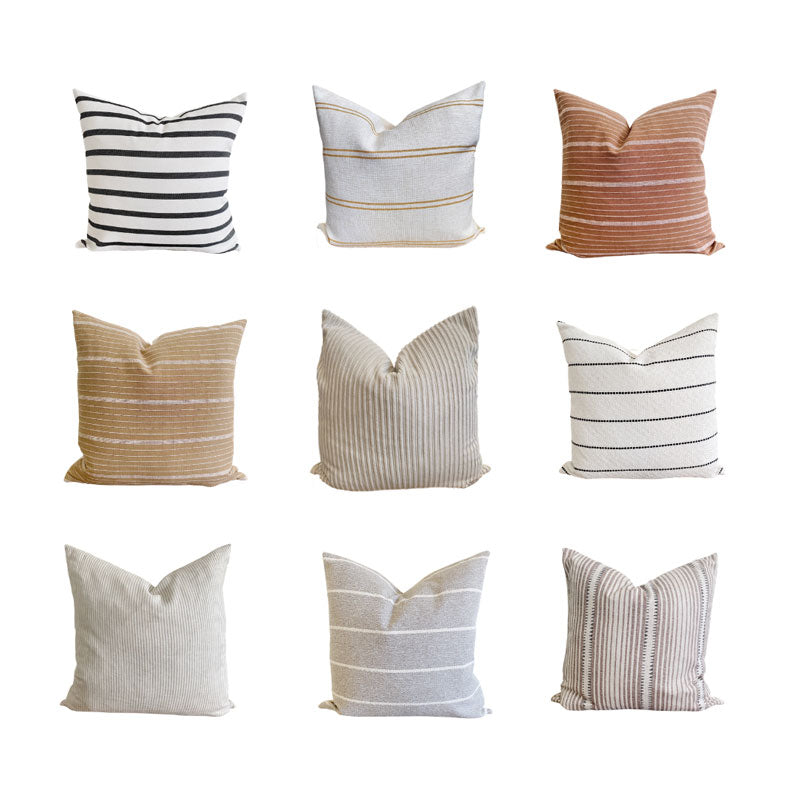 Pillow Pattern Roundup: Seeing Stripes!