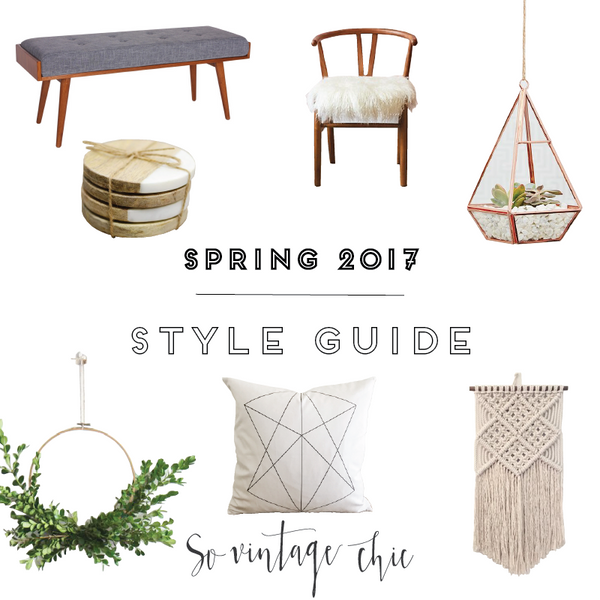 Spruce up for Spring! SVC Spring 2017 Home Decor Guide