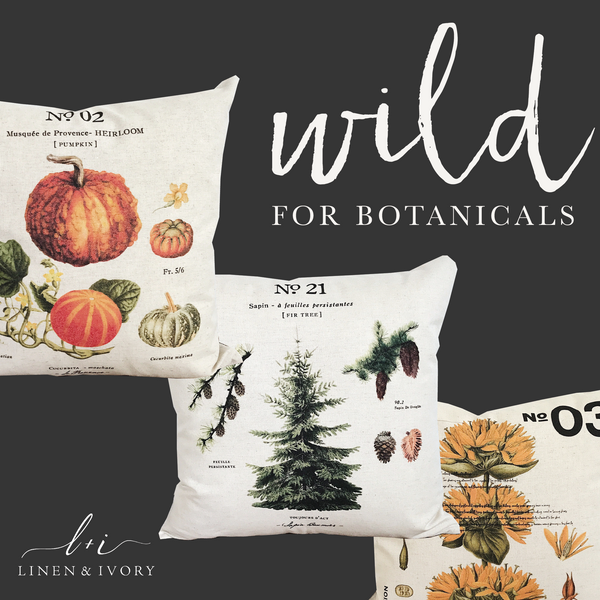 Modern Farmhouse Decor-Botanical PIllow Collection