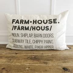 Farmhouse Definition Pillow Cover | Linen & Ivory