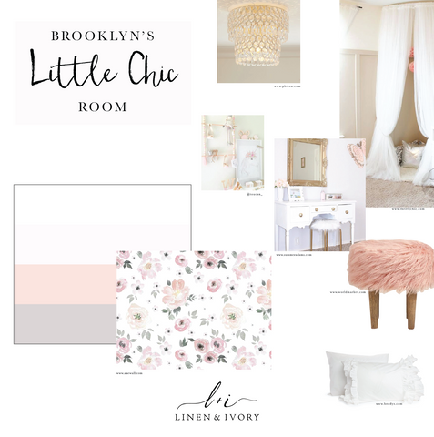 Little Chic Blush Pink Tulle Kid Room