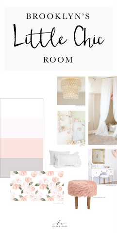 Little Chic Blush Pink Girl Girly Room Feminine Tulle Fur Style Board Inspiration