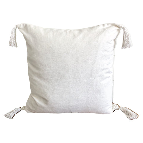 White Tassle Pillow