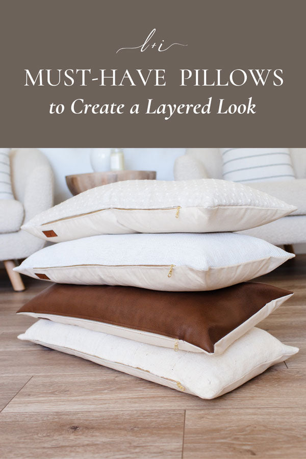 must have pillows to create a layered look pin