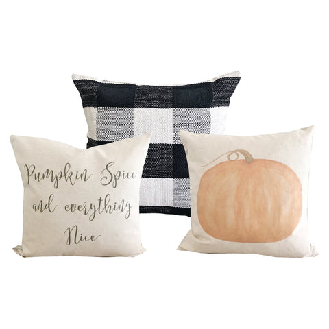 fall pumpkin pillows