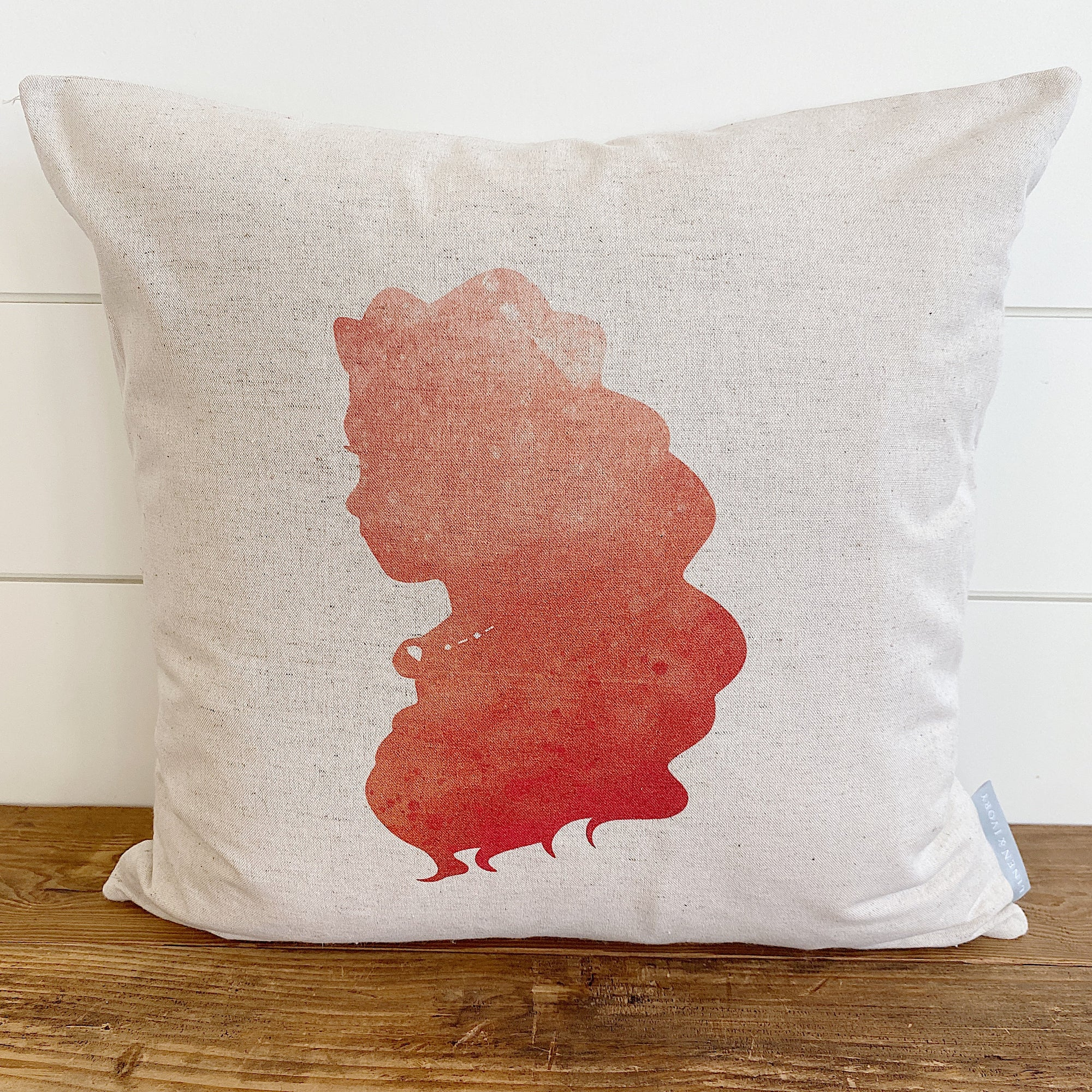 Princess Silhouette Moana Inspired Pillow Cover