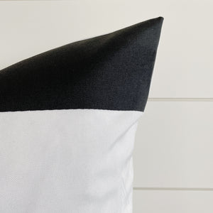 """Angus"" Black & White Striped /Outdoor Pillow Cover"