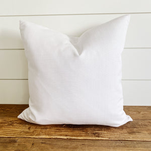 """Reagan"" White/Ivory Woven Indoor/Outdoor Pillow Cover"