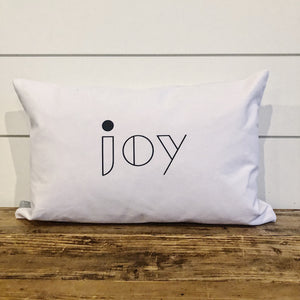 Modern Joy Pillow Cover - Linen and Ivory