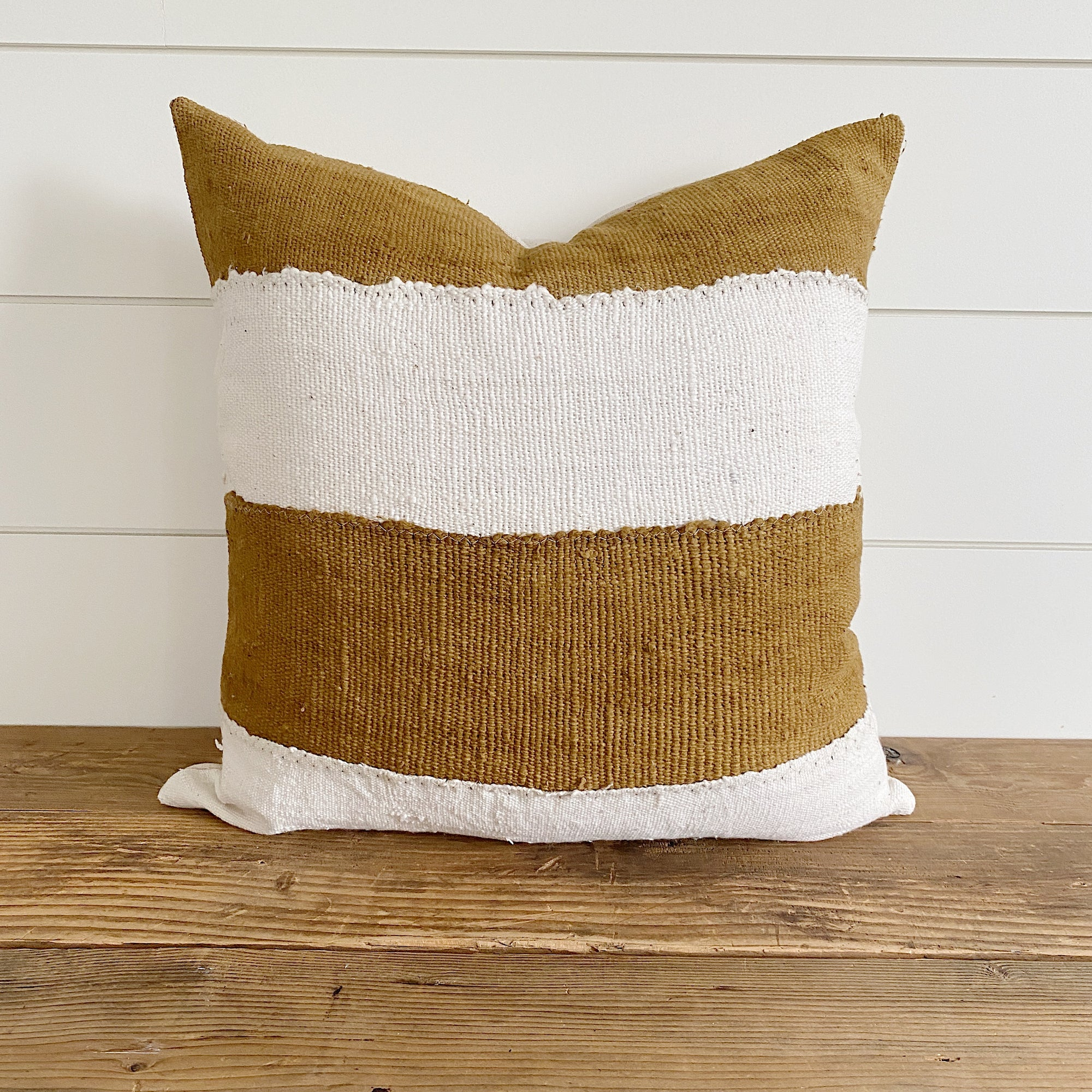 WINNIE || Mustard Authentic Africa Mud Cloth Pillow Cover