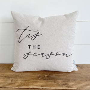 Tis The Season Pillow Cover - Linen and Ivory