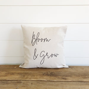 Bloom & Grow Pillow Cover - Linen and Ivory