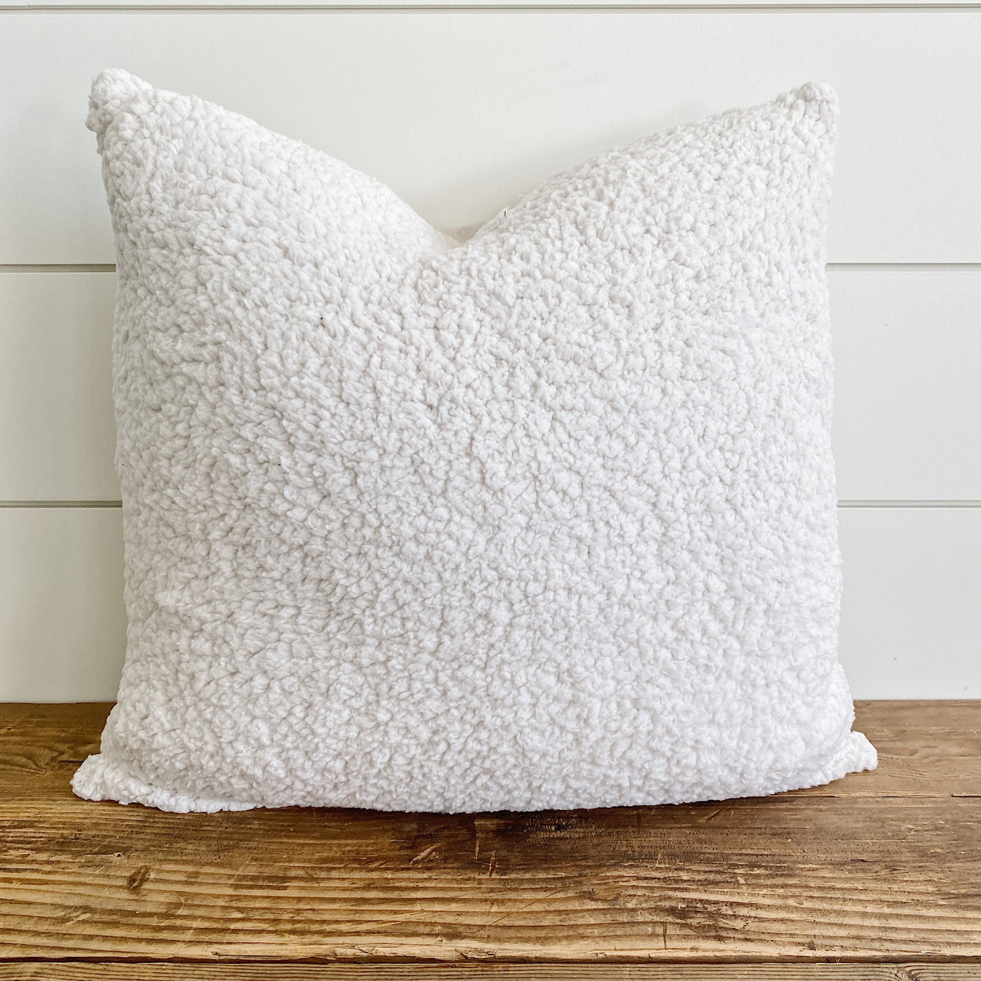AVERY || Sherpa Pillow Cover (Natural)