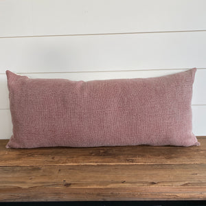 """Declan"" Vintage Red Pillow Cover - Linen and Ivory"
