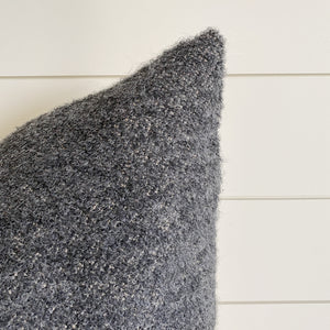 BECKETT || Dark Gray Bouclé Pillow Cover