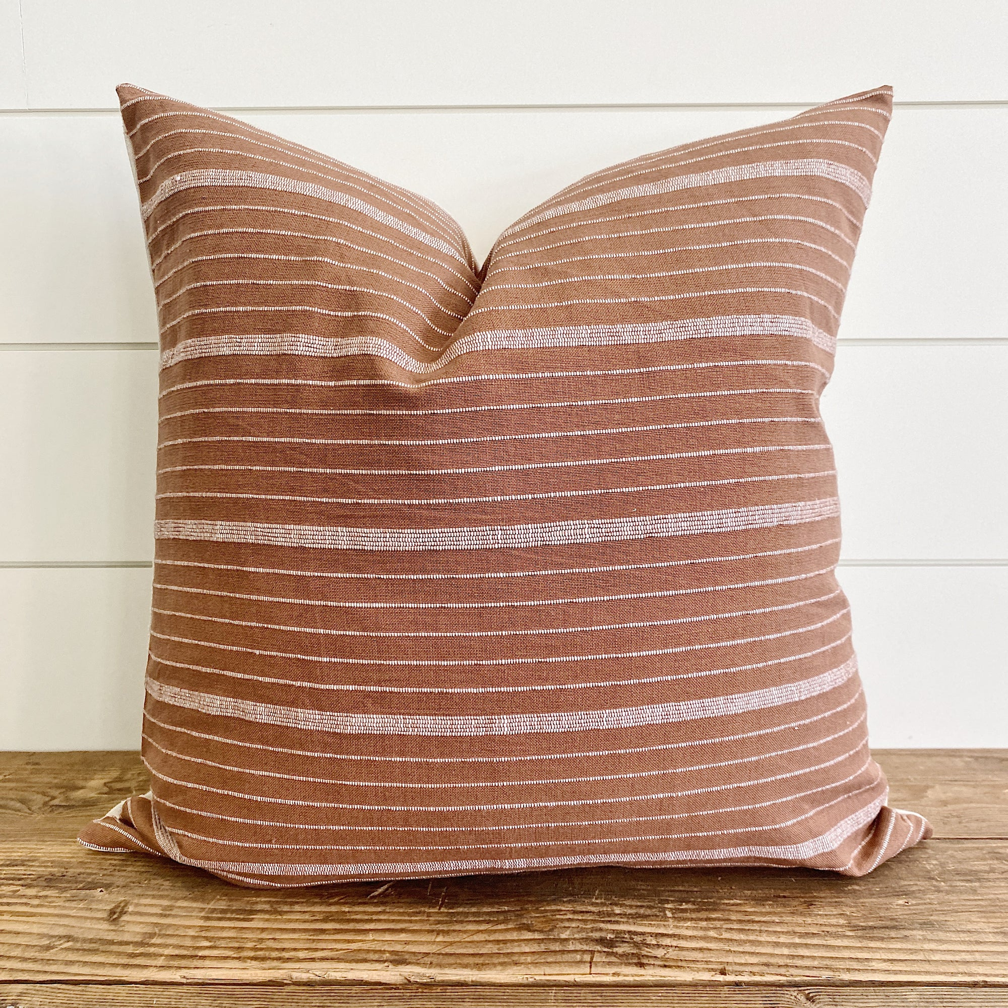 LILA || Rust & White Striped Pillow Cover (FALL LAUNCH 2020)