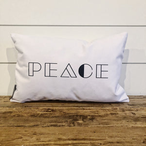 Modern Peace Pillow Cover - Linen and Ivory