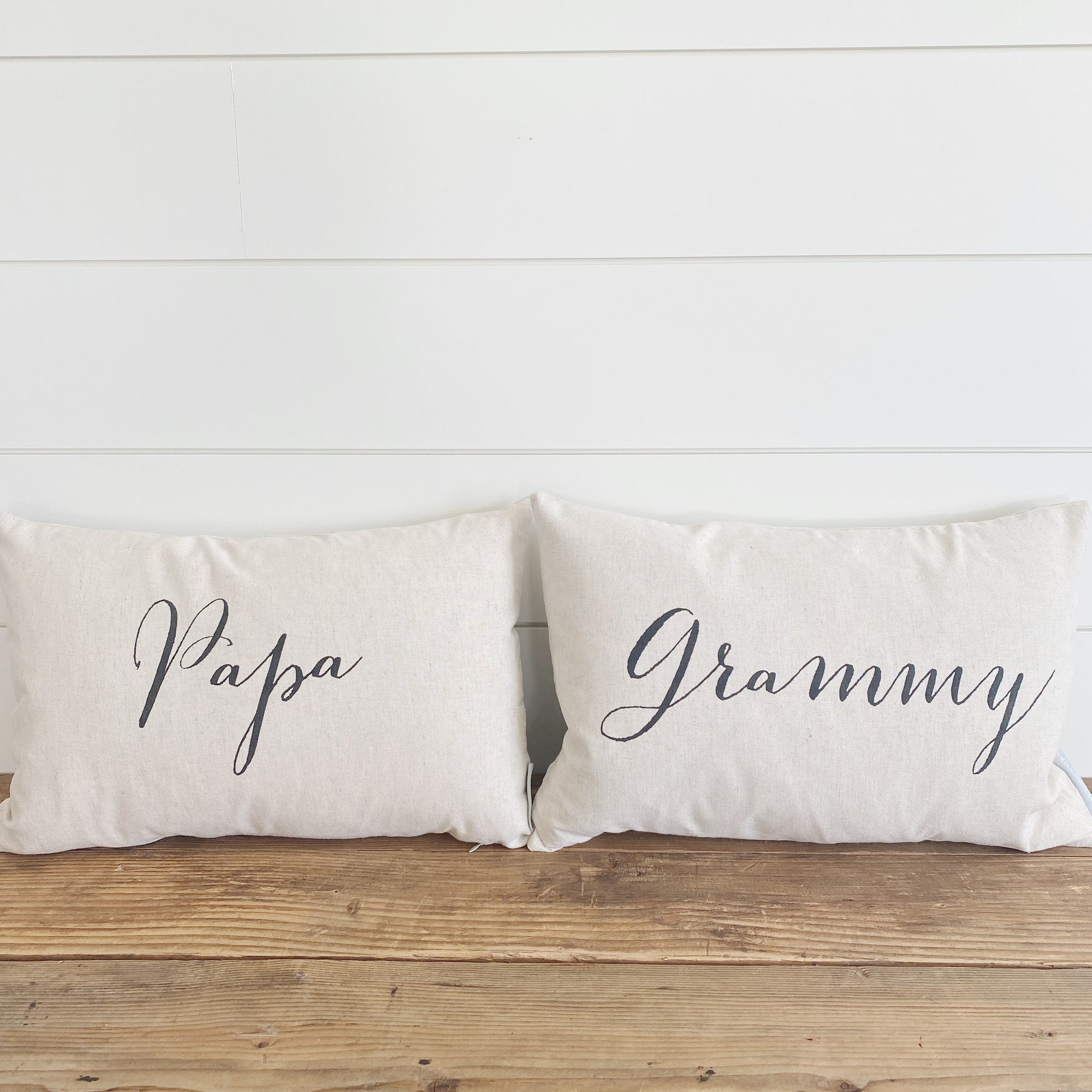 Custom Grandma & Grandpa Pillow Covers (Set of 2)