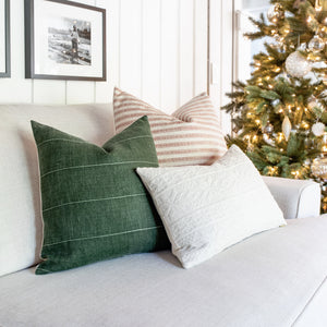 ASPEN || Ivory Snowflake Pillow Cover