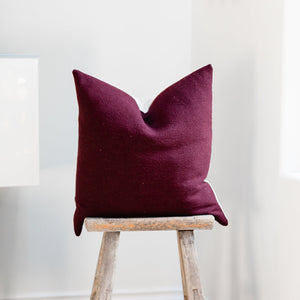 RUBY || Cranberry Red Pillow Cover