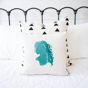 Princess Silhouette Merida (Brave) Inspired Pillow Cover