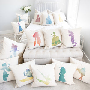 Princess Silhouette Elsa Inspired Pillow Cover
