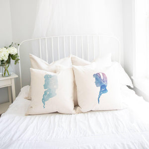 Princess Silhouette Anna Inspired Pillow Cover