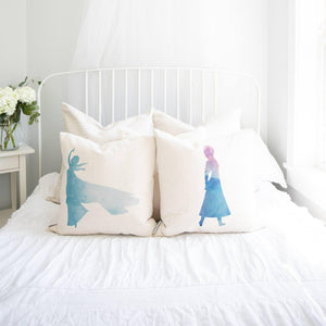 Princess Elsa Inspired Pillow Cover