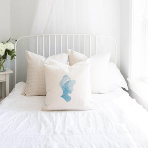 Princess Silhouette Cinderella Inspired Pillow Cover
