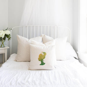 Princess Silhouette Tiana Inspired Pillow Cover