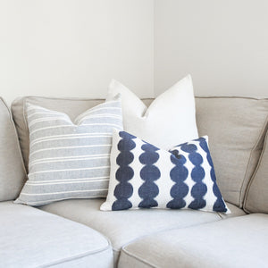 HUDSON || Navy & White Stripes Pillow Cover (FALL LAUNCH 2020)