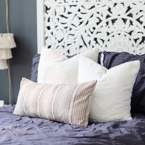 CADENCE || Rustic Tan & Charcoal Striped Pillow Cover (FALL LAUNCH 2020)