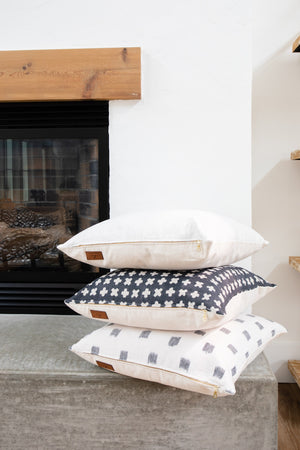ELIE || Navy & White Ikat Pillow Cover (FALL LAUNCH 2020)